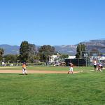 youth playing baseball